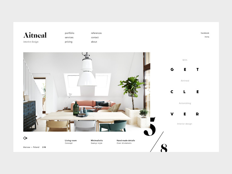 Tips on building your interior design portfolio sites for Interior design portfolio websites