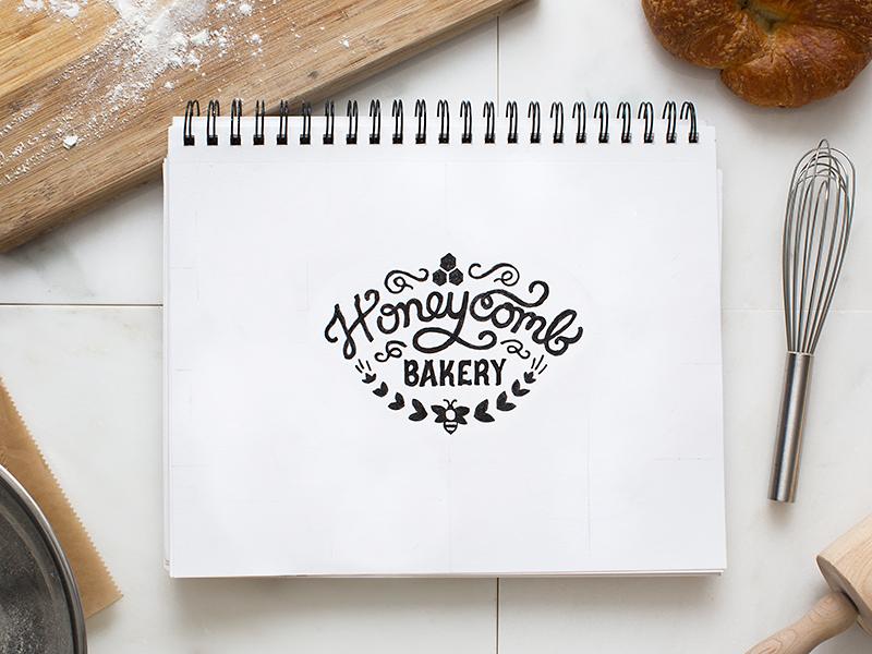 Honeycomb Bakery Logo by Underbelly
