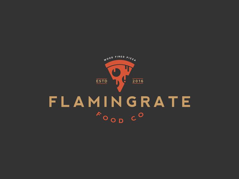Flamin Grate Food Company Logo by Warren Hoare