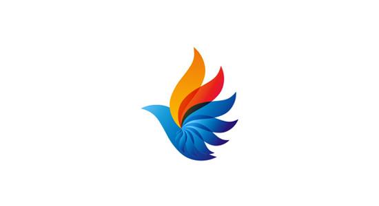 Phoenix bird logo design symbol by Alex Tass