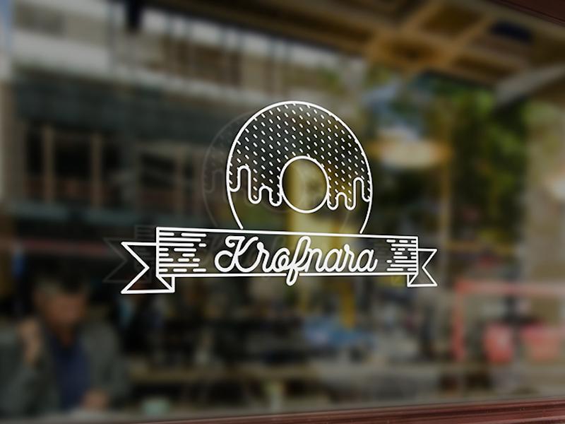 Donut Shop Logo by Danilo Ćalić