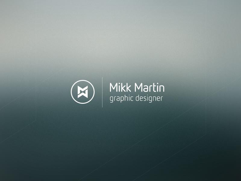 Identidades de marca personal de Diseñadores Creativos - Identidad personal de Mikk Martin