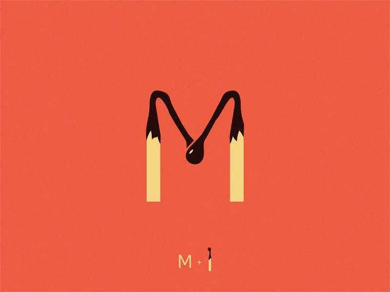 match letter M by Yuri Kartashev