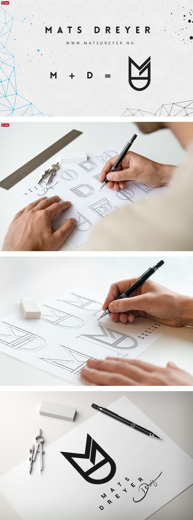 Identidades de marca personal de Diseñadores Creativos - Identidad de Mats Dreyer