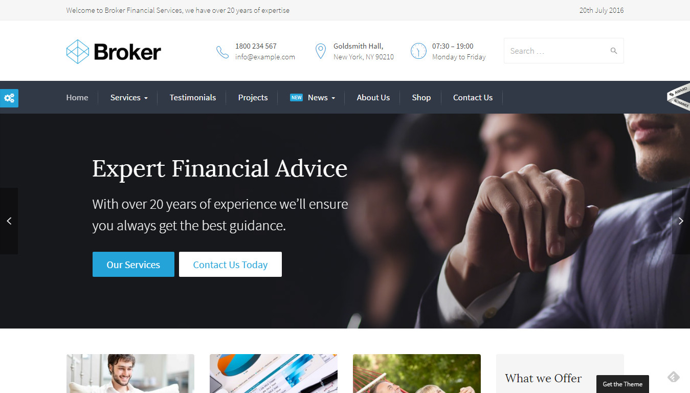 Broker - Business and Finance WordPress Theme