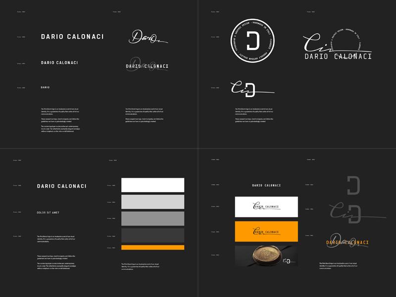 Dario Calonaci Personal Branding Guideline