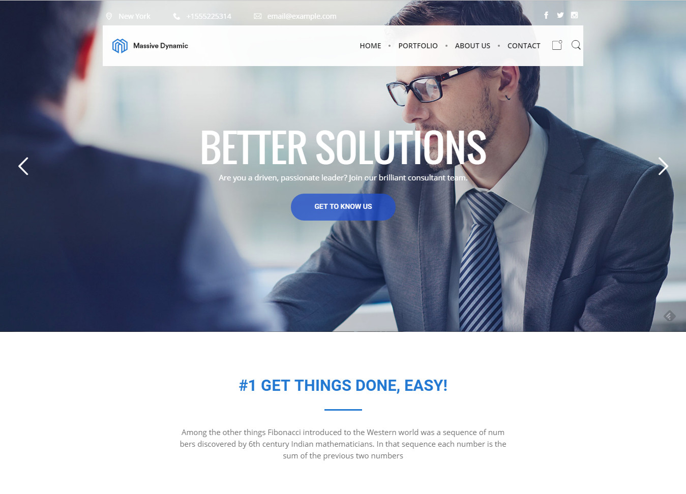 Massive Dynamic - Business WordPress Theme