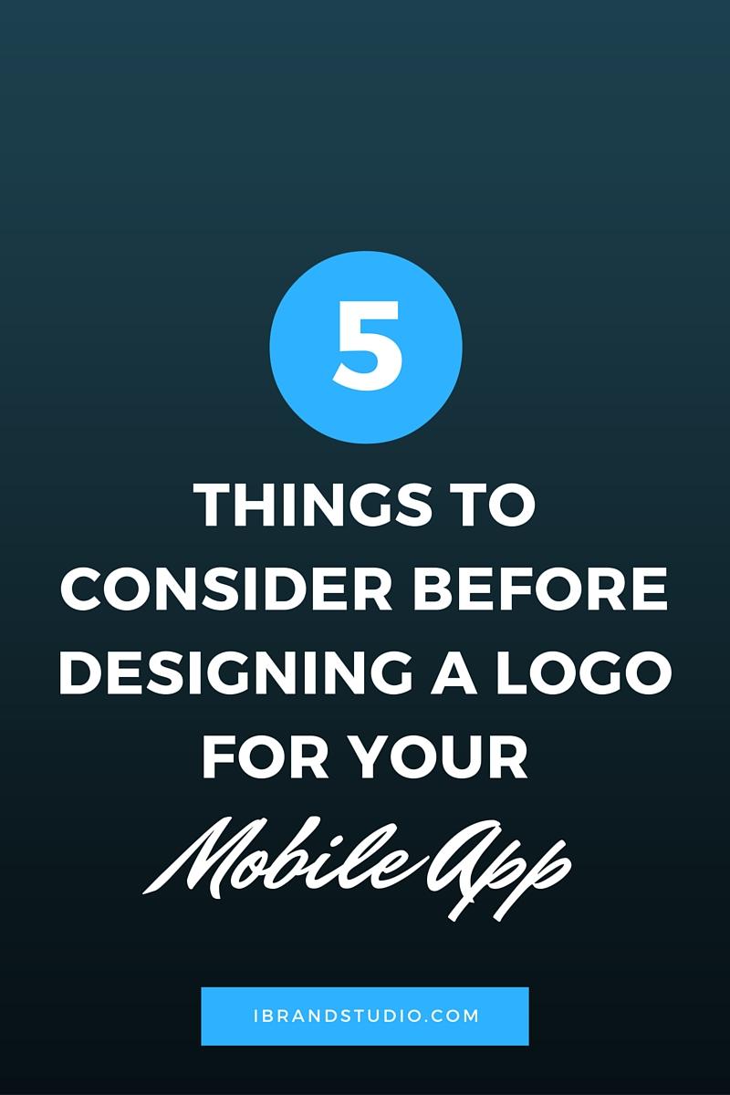 Mobile App Logo Design Consideration
