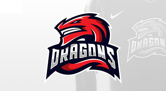 DRAGONS Sports Logo by Derrick Stratton
