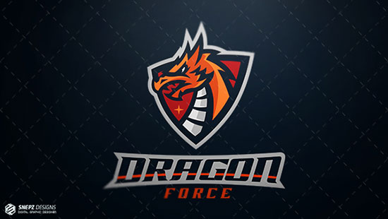 Esport logo Dragon force by Igor Mariev