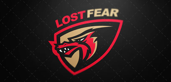 Esport logo Lost fear by Igor Mariev