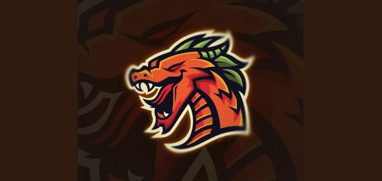 Mighty Dragon Mascot Logo Design by MascotLogoCaptain