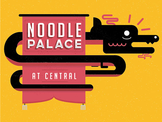 NOODLE PALACE Logo by Sam Coverley