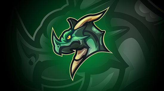 The Great Dragon Mascot Logo by Lorenzo León