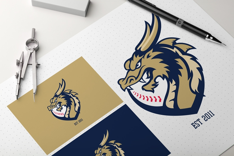 Bendigo Dragons Baseball by TwoEightFiveCreative