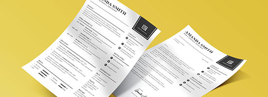 minimalis resume template cover