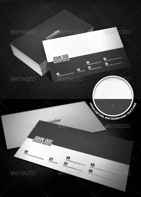 17 Ready to Print Minimalist Business Card Templates