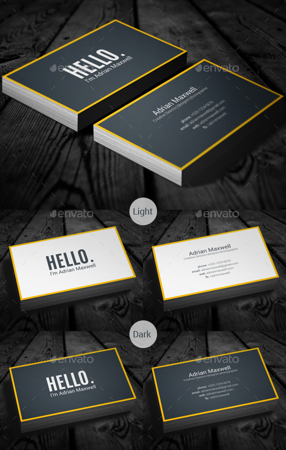 Simple Minimal Business Card by sawonahmed