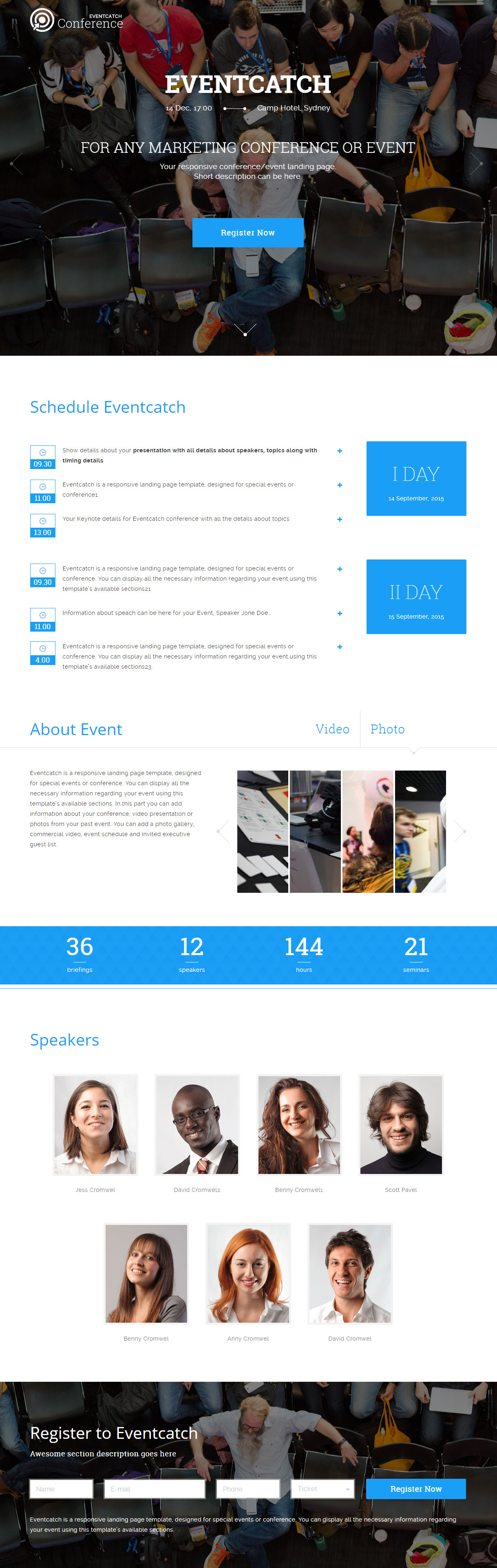 Eventcatch - Event & Conference WP theme