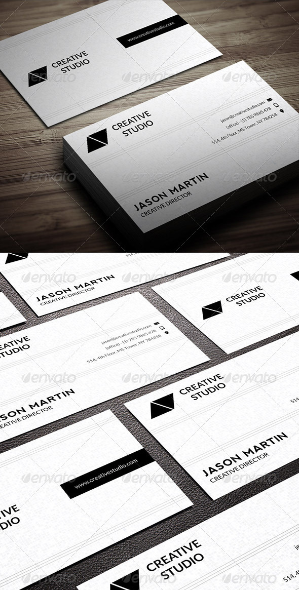 Minimal Business Card - 01 by bouncy