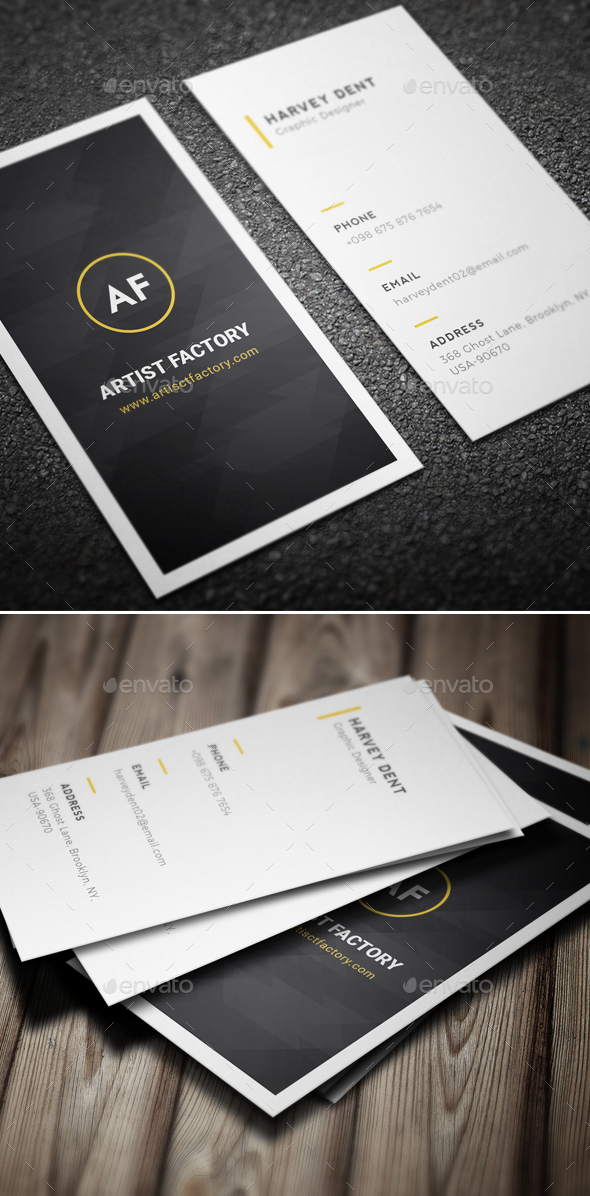 Minimal Business Card Template by Jongli