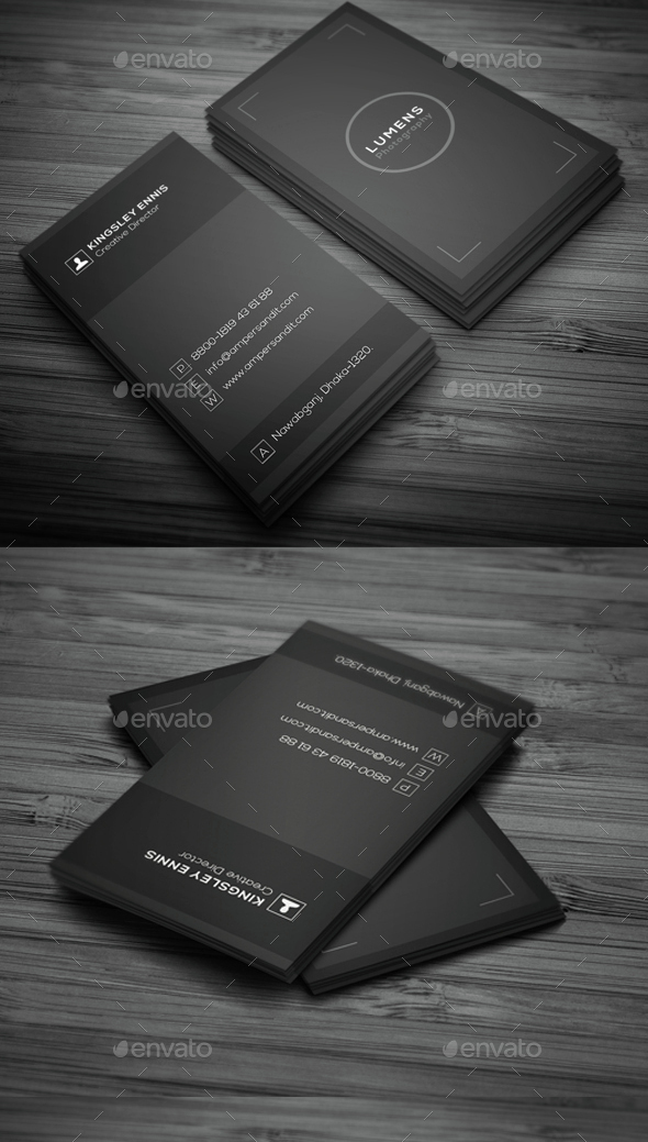 Minimal Photography Business Card by sar-momin