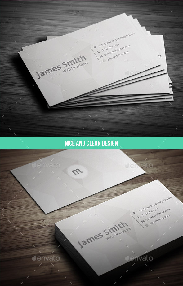 17 ready to print minimalist business card templates. Black Bedroom Furniture Sets. Home Design Ideas