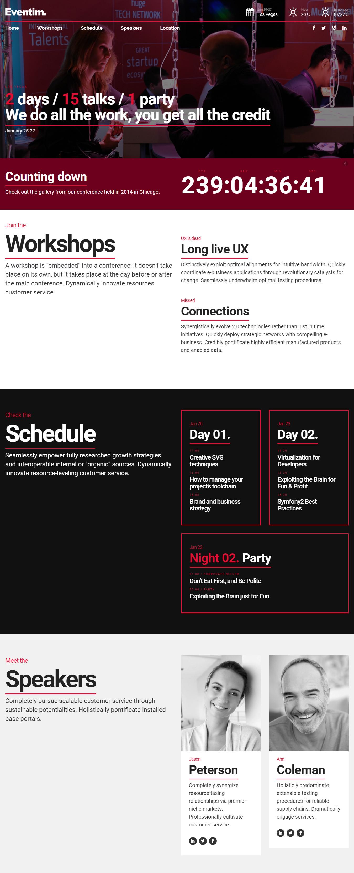 Eventim - Event & Conference Theme