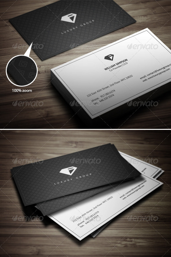 Minimal Luxury Buisness Card by ComyDesigns