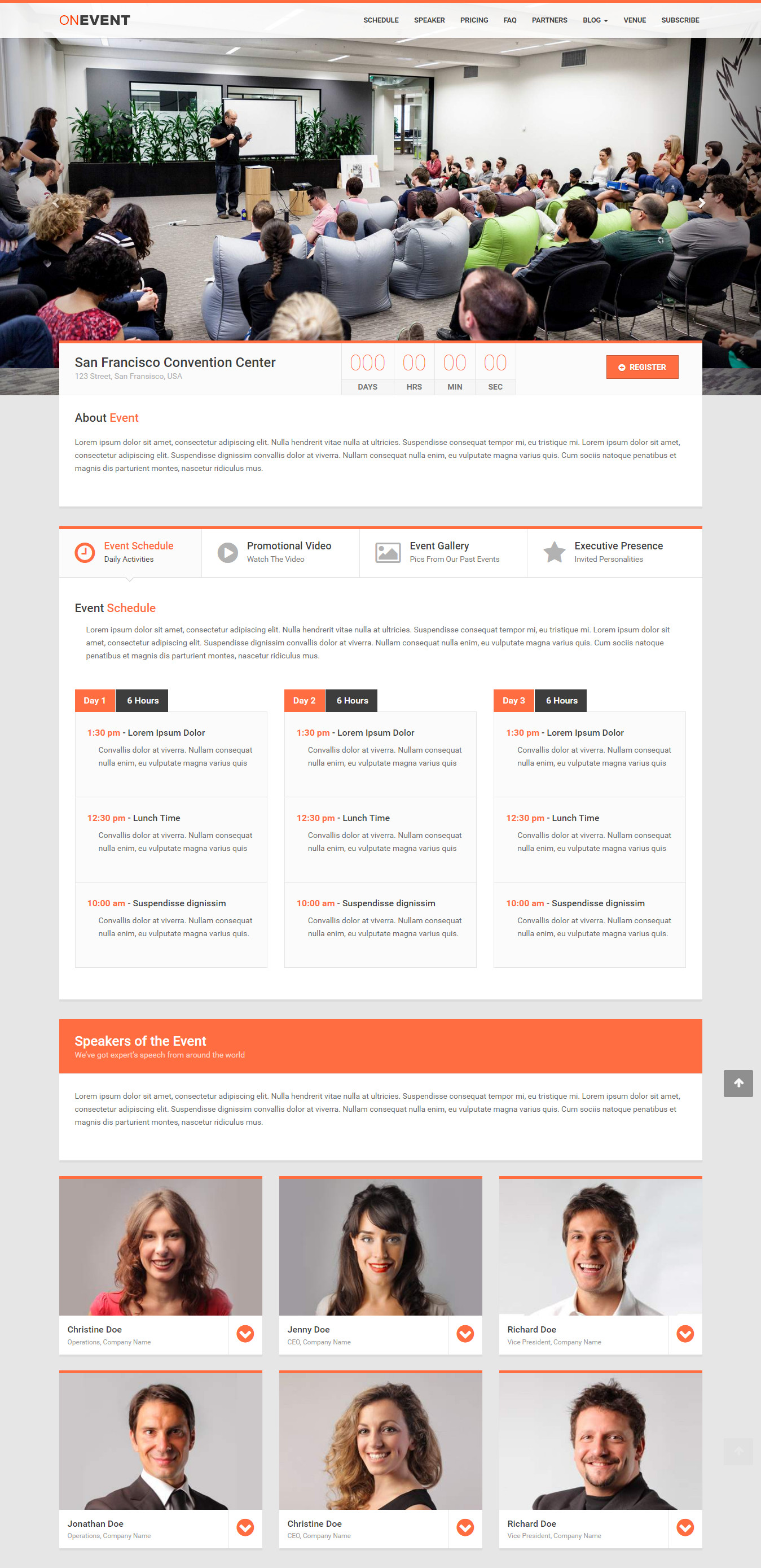 OnEvent - Special Event WordPress Theme