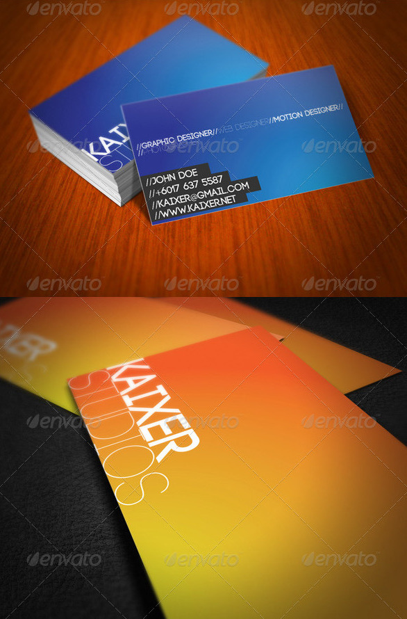 Minimal Style Business Card by kaixer
