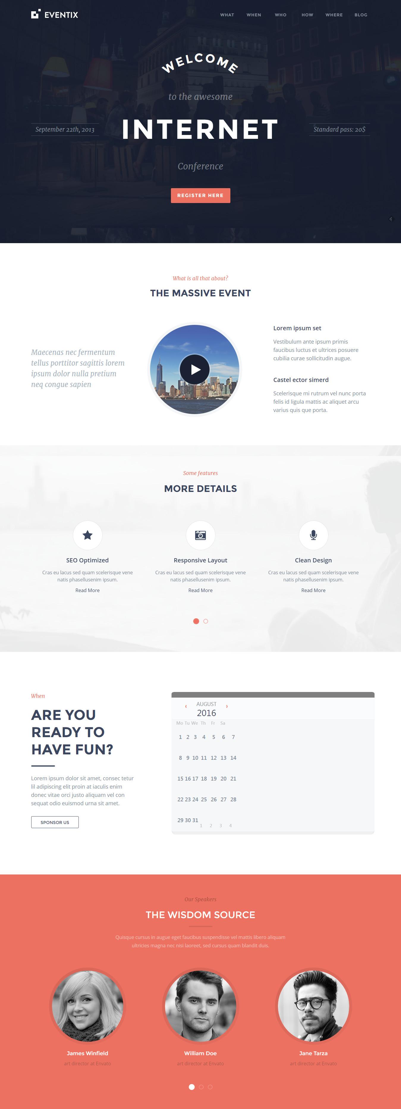 Eventix - Event Landing WordPress Theme