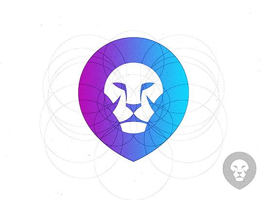 Mejores logotipos de Leones- Logotipo de león de Yoga Perdana