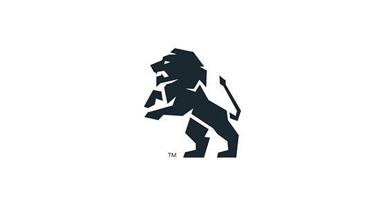 Lion logo mark by Neil Burnell