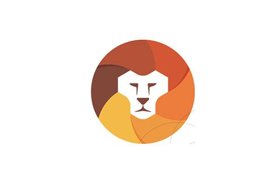 Mejores logotipos de Leones- Lentes Logo Concept + León de Yoga Perdana