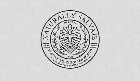 Mejores logotipos de Leones - Logotipo de Naturally Salvaje de Amy Hood