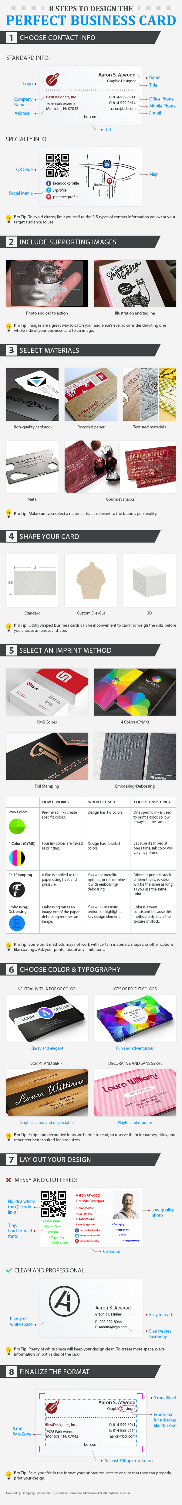 Infographic: 8 Steps to Design The Perfect Business Card