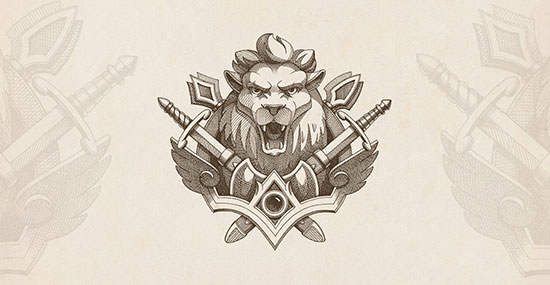 lion emblem by NestStrix Studio