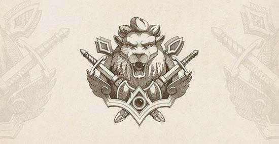Mejores logotipos de Leones - emblema de león de NestStrix Studio