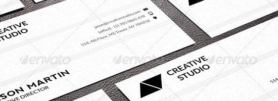 17 Minimal Business Card Templates