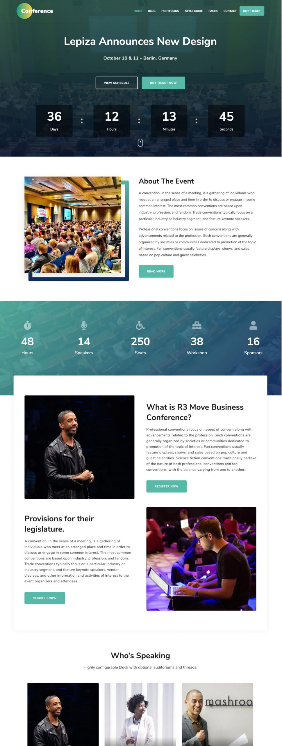 The Conference WordPress Theme