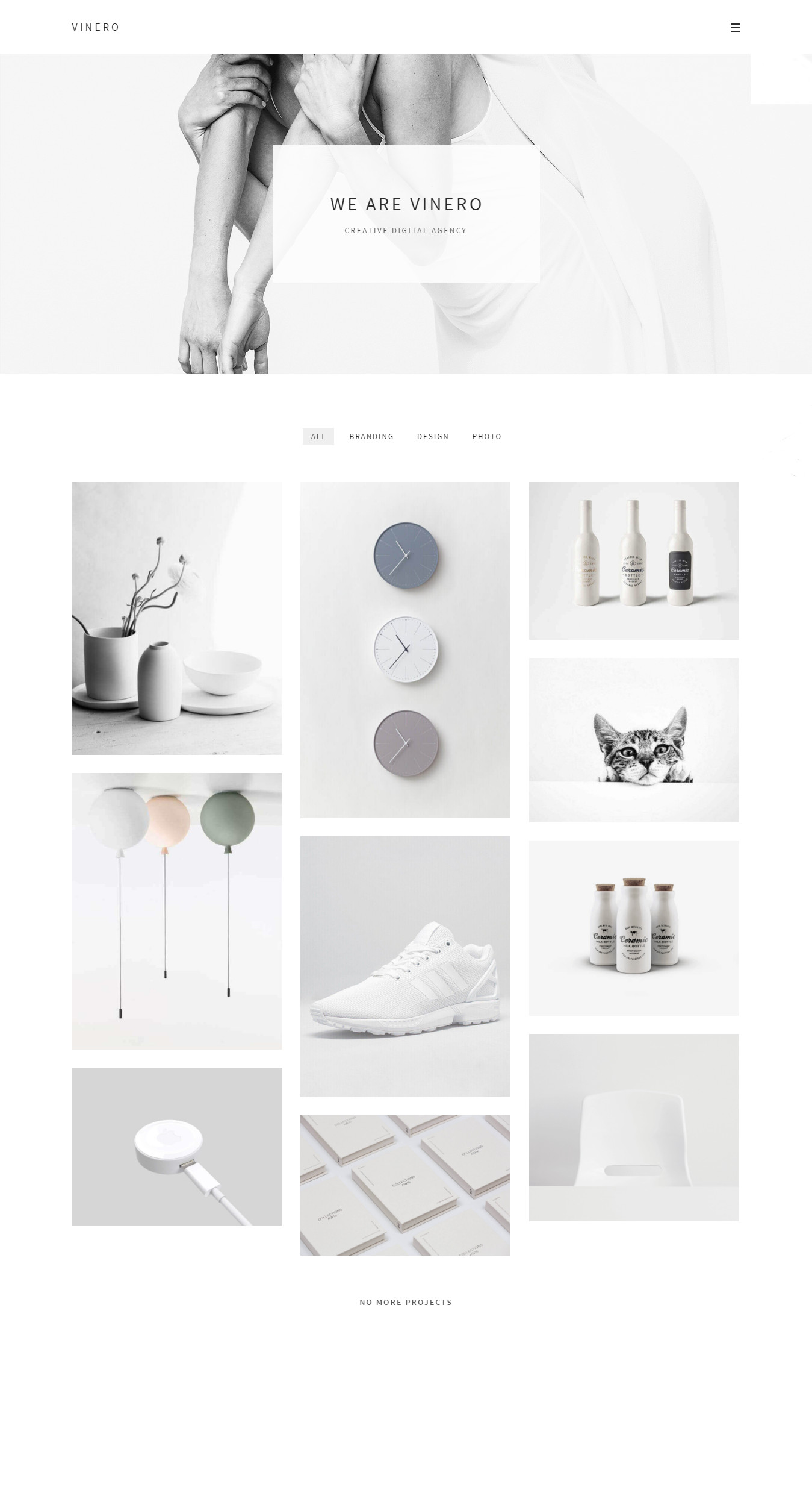 Vinero - Very Clean and Minimal Portfolio WordPress Theme