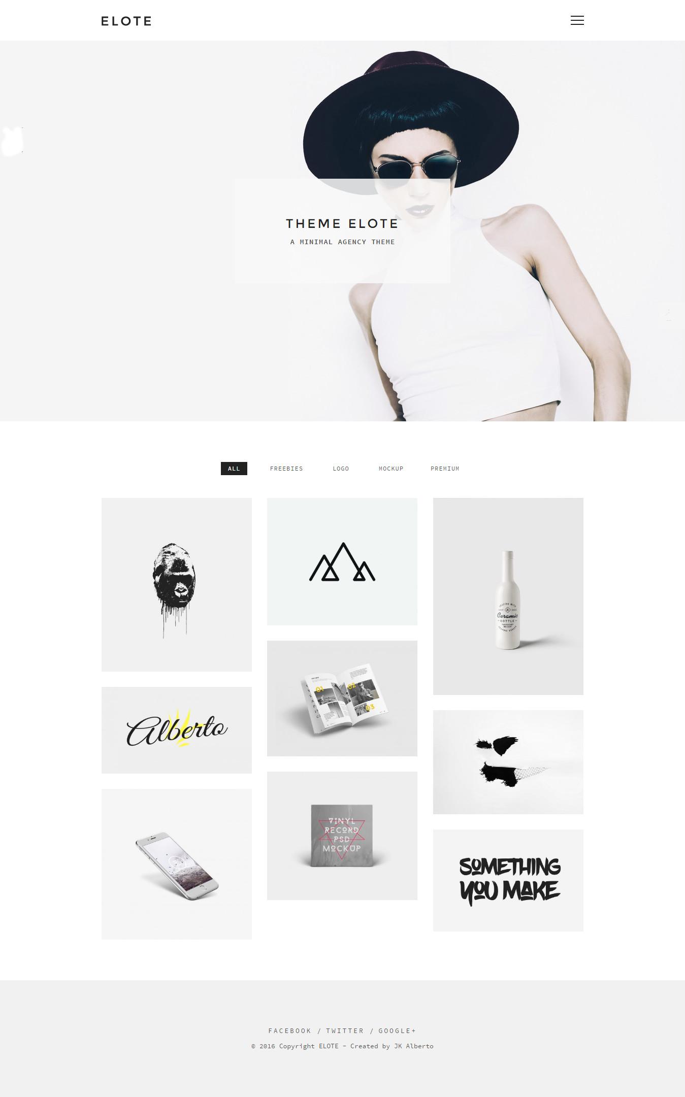 Elote - Minimal Portfolio/Agency Theme