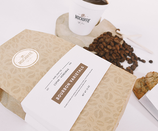 Coffee Bag And Cup Mockup Freebie by EAMEJIA STORE