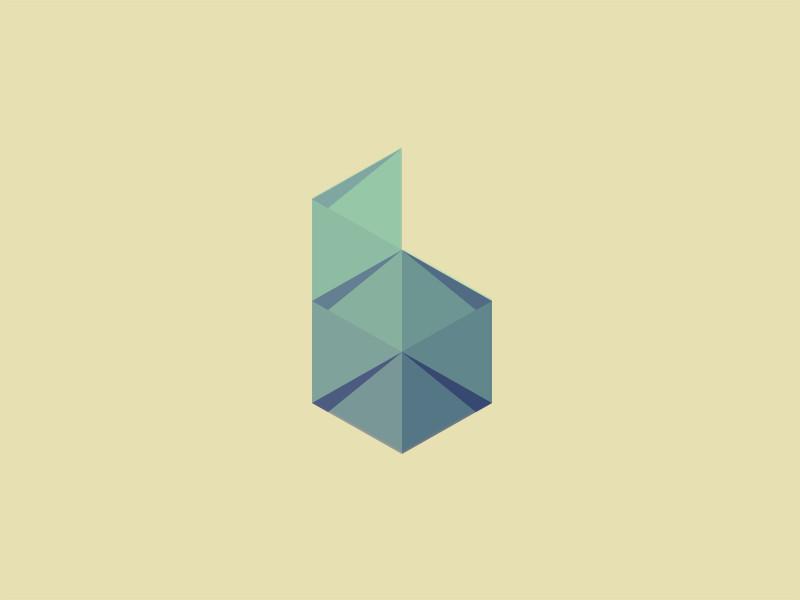 Ideas y Diseños de Logotipos tipo Origami o Plegados - B Mark de Jonas