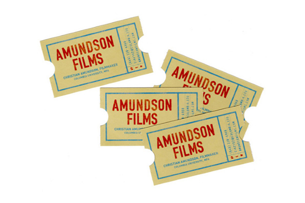 amundson films business card