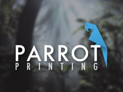 Ideas y Diseños de Logotipos tipo Origami o Plegados - Logotipo de Parrot Printing de Mark Wissa