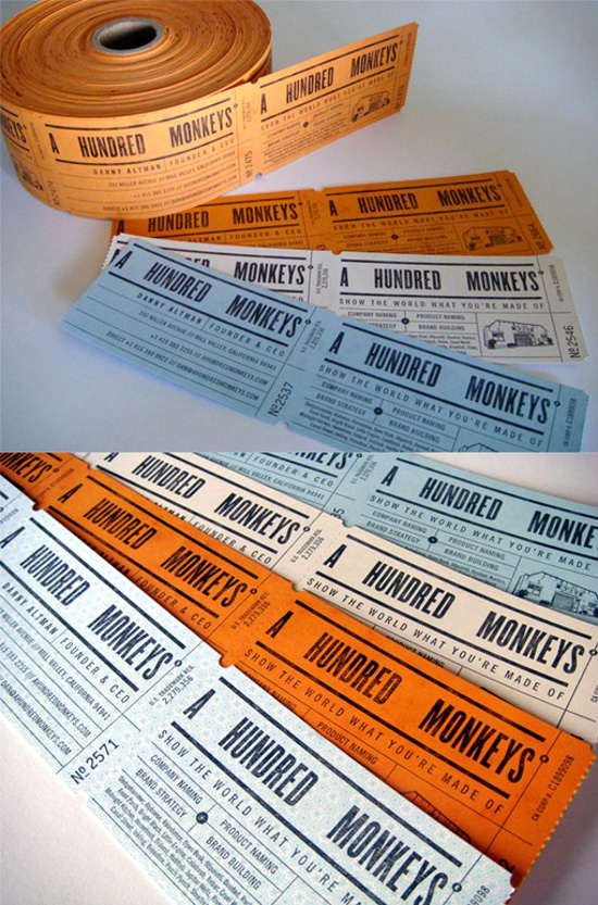 Clever Ticket Roll Style Business Cards For A Branding Agency