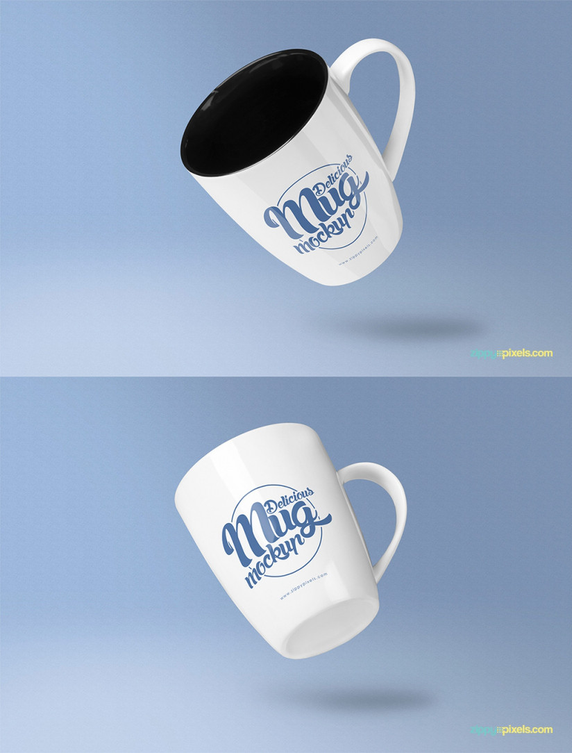 FREE AWESOME COFFEE MUG MOCKUP PSD'S by ZippyPixels