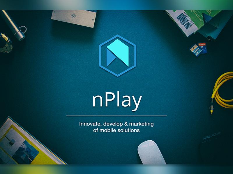 Ideas y Diseños de Logotipos tipo Origami o Plegados - Logo de nPlay por Afiq Xilantra